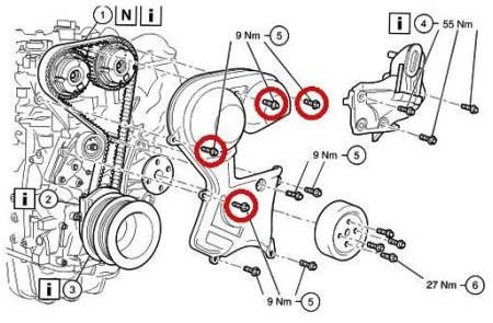 ремень ГРМ на Форд Фокус 2