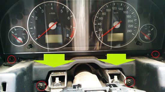 Замена лампочек в приборной панели форд мондео